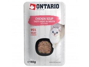 ONTARIO Kitten Soup Chicken, Carrot & Rice s kuřecími kousky pro koťata 40g