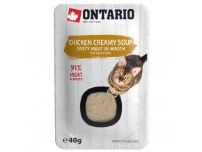 ONTARIO Cat Soup Chicken & Cheese with rice s kuřecími kousky a sýrem 40g