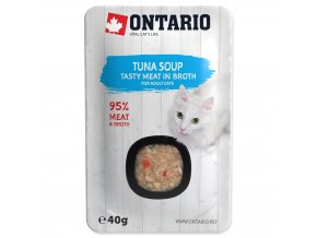 ONTARIO Cat Soup Tuna with vegetables s kousky tuňáka 40g