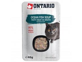 ONTARIO Cat Soup Ocean Fish with vegetables s kousky makrely a tuňáka 40g