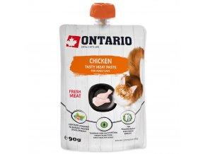ONTARIO Chicken Fresh Meat Paste lahodná pasta z čerstvého kuřecího masa 90g