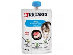ONTARIO Kitten Tuna Fresh Meat Paste lahodná pasta z čerstvého kuřecího masa a tuňáka 90g