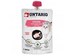 ONTARIO Kitten Chicken Fresh Meat Paste lahodná pasta z čerstvého kuřecího masa 90g