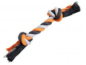 Uzel HipHop bavlněný 2 knoty 25cm/75g šedá, tmavě šedá, oranžová