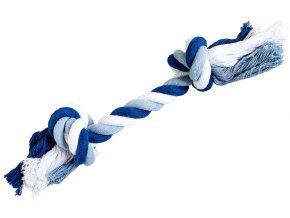 Uzel HipHop bavlněný 2 knoty 20cm/55g tmavě modrá, světle modrá, bílá