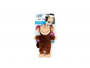 Plyšová opice s ultrazvukovým pískátkem