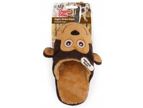 Plyšový pantofel opice