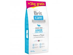 BRIT Care Grain-free Junior Large Breed Salmon & Potato 12+2kg