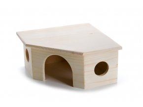 32440 jk animals drevene domky masiv pro hlodavce rohovy domek morce 22 22 11 cm 1