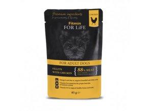 Fitmin For Life Kuřecí kapsička se šunkou pro psy 85 g