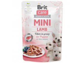 Kapsička BRIT Care Mini z jehněčího masa v delikátní šťávě pro štěňata 85g