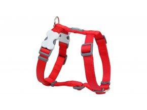 Postroj Red Dingo 1,2x30-44cm jednobarevný červená
