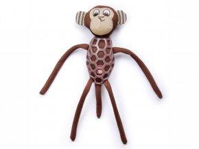 Opice látková pískací hračka