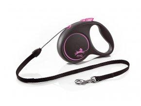 flexi Black Design S Cord 5m pink