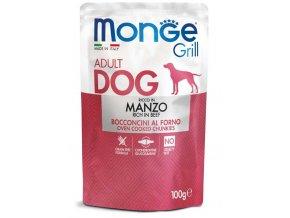 MONGE GRILL kapsička s hovězím masem pro psy 100g