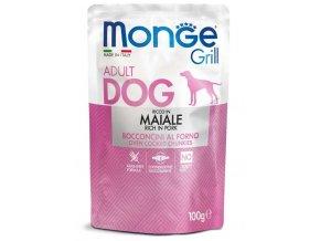 MONGE GRILL kapsička s vepřovým masem pro psy 100g