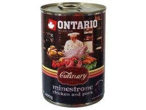 konzerva ontario culinary minestrone chicken and pork 400g original