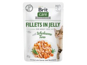 Brit Care Cat kapsička filetky v želé se zdravým tuňákem 85g