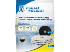 Náplň uhlíkový molitan do menší fontány CATIT Fresh & Clear 3ks