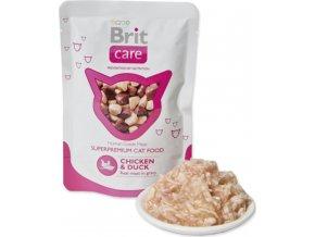 Brit Care Cat kapsa Chicken & Duck Pouch 80g