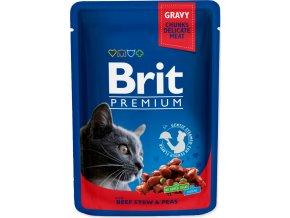 Brit Premium Cat kaps. - Gravy Beef Stew & Peas 100 g