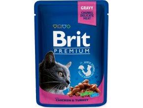 Brit Premium Cat kaps. -Gravy Chicken & Turkey 100 g