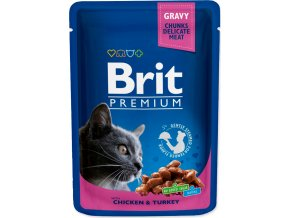 Brit Premium Cat kaps. -Gravy Chicken & Turkey 100 g