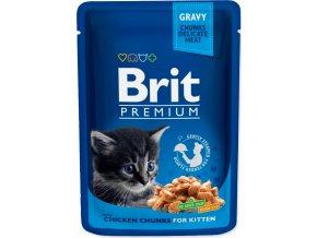 Brit Premium Cat kaps. - Gravy Chicken Chunks for Kitten 100 g