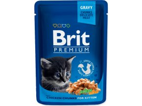 Brit Premium Cat kaps. - Gravy Chicken Chunks for Kitten 100 g