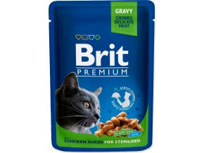 Kapsička BRIT Premium Cat Chicken Slices for Sterilised 100g