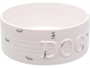 Miska DOG FANTASY keramická bílá modré body 20,5 cm 1600ml