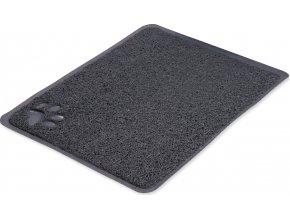 PVC předložka s tlapkou, šedá k WC 45 x 37 cm