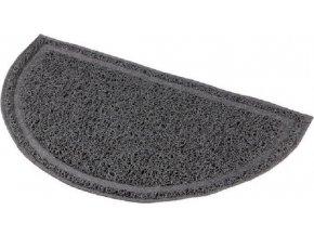 Půlkruhová PVC předložka šedá k WC 59 x 35cm