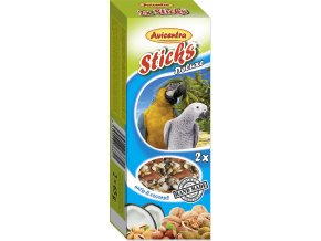 Avicentra tyčinky velký papoušek - ořech+kokos 2ks