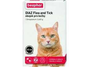Obojek antiparazitní BEAPHAR DIAZ Flea and Tick 35 cm 1ks