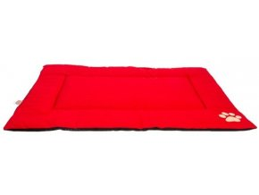 Podložka obdélnik bavlněná Bradlec červená s tlapou 70x100cm