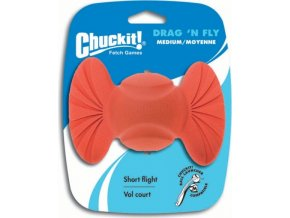 Chuck It! Míček Drag n Fly 6,5 cm - oranžová