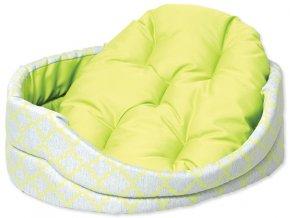 Pelíšek DOG FANTASY ovál s polštářem ornament zelený
