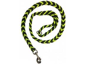 Vodítko COP silné neon zeleno-černé 1,2m
