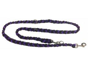 Vodítko COP slabé fialovo-černé 2m