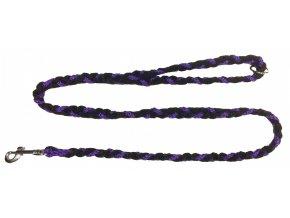 Vodítko COP slabé fialovo-černé 1,2m