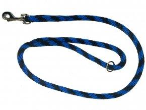 Kulaté vodítko provaz modro-černé 1,2m