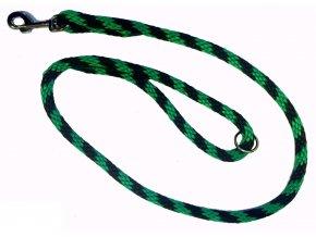 Kulaté vodítko provaz zeleno-černé 1,2m