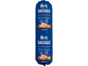 Salám BRIT Premium Dog Sausage Chicken & Rabbit 800g
