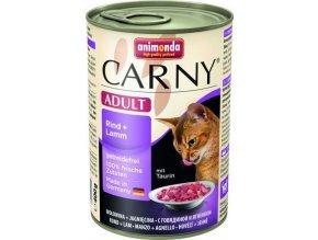 ANIMONDA konzerva CARNY Adult - hovězí, jehněčí 400g
