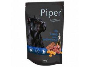 PIPER ADULT kapšička maso v sáčku pro psy jehně, mrkev a hnědá rýže 500g