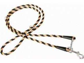 """Vodítko textil lano """"Spirála"""" přep. černo/béž. B&F 1,40 x 240 cm"""