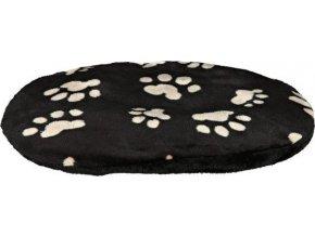 Plyšový polštář JOEY 70x47cm - černý