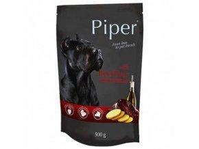 PIPER ADULT kapsička pro psy hovězí játra a brambory 500g