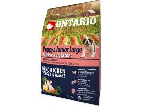 Ontario Puppy & Junior Large Chicken & Potatoes 2,25kg (Exp:28.02.19) 2,25kg